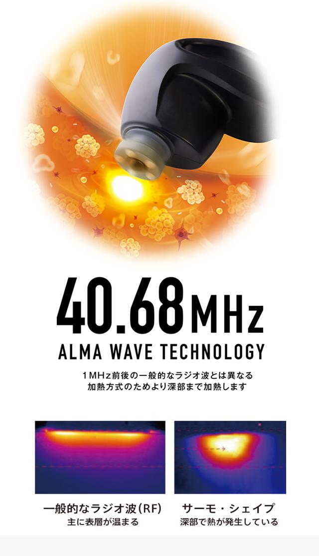 業界唯一 ! 40.68MHz の AlmaWave